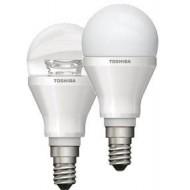 LAMPARA LED TOSHIBA ESFERICA 6 W E-14 180º CLARA 2700K 20000H