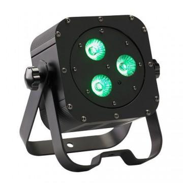CONTEST irLEDFLAT-3x12SIXb, Proyector de 3 LED 6en1 12W (RGBWA+UV)