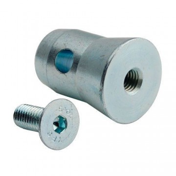 CONTEST 1/2MANCH-M10 Medio conector conico con rosca M10 para tubo 50