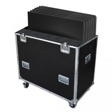 CONTEST FLY6PLTL1, Flightcase para 6 PLTL-1x1 y pies de 1 m