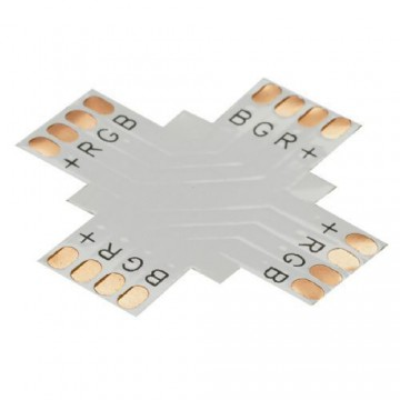 CONTEST XCO-4 CONECTOR en X para tira de led RBG10 mm