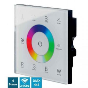CONTEST PILOTctl-16, Panel táctil DMX + Wifi 2,4GHz 4 x 4 zonas RGBW