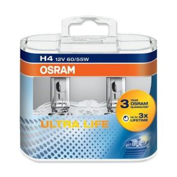 LAMPARA OSRAM 64193 ULT H-4 60/55W 12V P43T. Pack2 uds