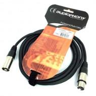 AUDIOPHONY CM/XFXM-3-CABLE MICRO XLR M/XLR H3 m