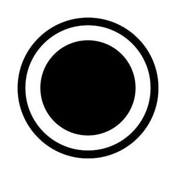 ROSCO GOBO VIDRIO 81102 ESTANDAR SUPERCONE(Supercono), Blanco y Negro