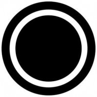 ROSCO GOBO VIDRIO 81115 CIRCLE OUTLINE, Blanco y Negro