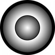 ROSCO GOBO VIDRIO 81119 CONE TONE, Blanco y Negro