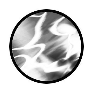 ROSCO GOBO VIDRIO 81120 SHIMMER, Blanco y Negro