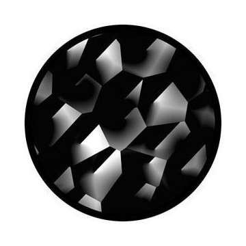 ROSCO GOBO VIDRIO 81123 CRACKED, Blanco y Negro