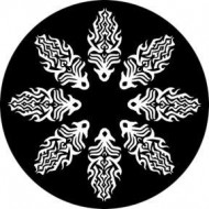 ROSCO GOBO VIDRIO 81124 FIRE CIRCLE(Circulo de fuego), Blanco y Negro