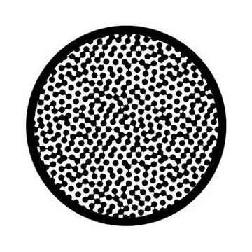 ROSCO GOBO VIDRIO 81128, CONNECT DOTS, Blanco y Negro