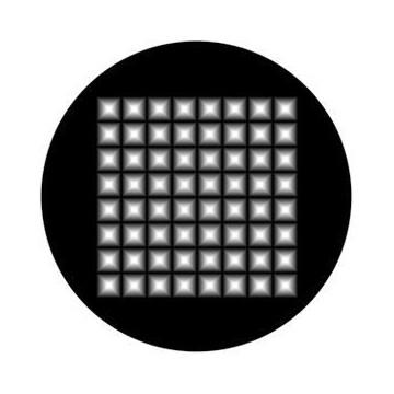 ROSCO GOBO VIDRIO 81137, PYRAMID HIGHLIGHTS, Blanco y Negro