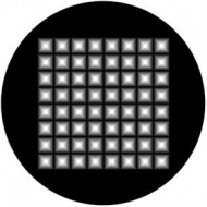 ROSCO GOBO VIDRIO 81137, PYRAMID HIGHLIGHTS, Blanco y Negro