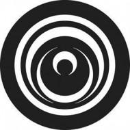 ROSCO GOBO VIDRIO 81144, CUT CIRCLES, Blanco y Negro