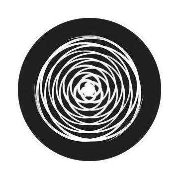 ROSCO GOBO VIDRIO 81145, CIRCLE TWIST, Blanco y Negro