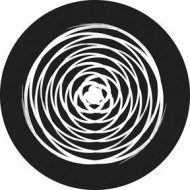 ROSCO GOBO VIDRIO 81145, CIRCLE TWIST, Blanco y Negro