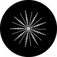 ROSCO GOBO VIDRIO 81151, SPIKES AND LINES, ByNy Negro
