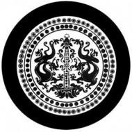 ROSCO GOBO VIDRIO 81169, DRAGON CREST, Blanco y Negro