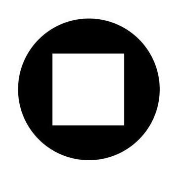 ROSCO GOBO VIDRIO 81187 OPEN SQUARE, Blanco y Negro
