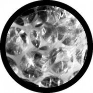 ROSCO GOBO VIDRIO 82202 BUBBLE WARP Blanco y Negroo