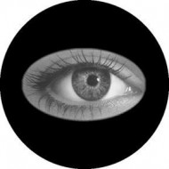 ROSCO GOBO VIDRIO 82204, EYEBALL, Blanco y Negro