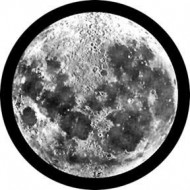 ROSCO GOBO VIDRIO 82700 MOON GLASS Blanco y Negro