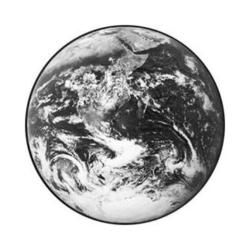 ROSCO GOBO VIDRIO 82711, EARTH 1, Blanco y Negro