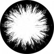 ROSCO GOBO VIDRIO 82723, SPLINTER, Blanco y Negro