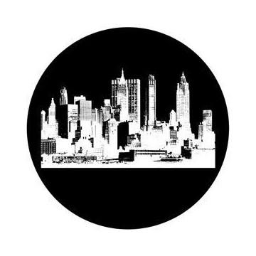 ROSCO GOBO VIDRIO 82734, CITYSCAPE 2, Blanco y Negro