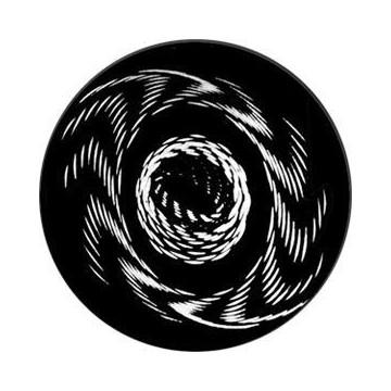 ROSCO GOBO VIDRIO 82737, TWISTED PARTICLES 1, Blanco y Negro