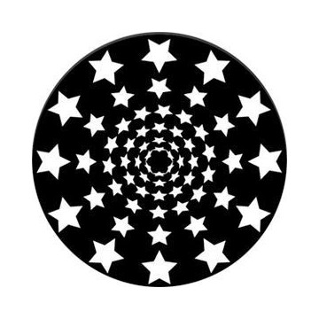 ROSCO GOBO VIDRIO 82743 STARDRIVE, Blanco y Negro