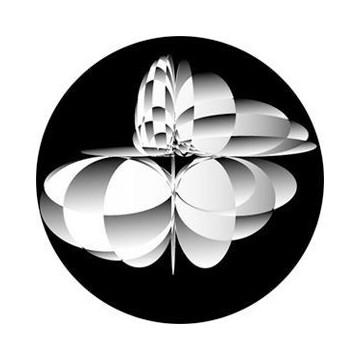 ROSCO GOBO VIDRIO 82755 BOUNCE, Blanco y Negro