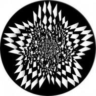 ROSCO GOBO VIDRIO 82761 STAR SPLASM, Blanco y Negro