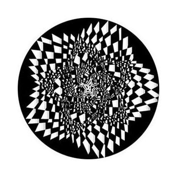 ROSCO GOBO VIDRIO 82762, STAR SPASM 2, Blanco y Negro