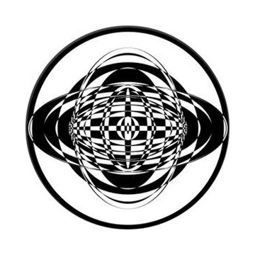 ROSCO GOBO VIDRIO 82765, CIRCULATE 2, Blanco y Negro