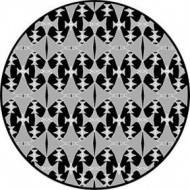 ROSCO GOBO VIDRIO 82772, DIAMOND PATTERN, ByN Negro