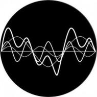 ROSCO GOBO VIDRIO 82777, OSCILLATING WAVES NEGATIVE, Blanco y Nregro