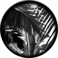 ROSCO GOBO VIDRIO 82782, JUNGLE GLOOM, Blanco y Negro