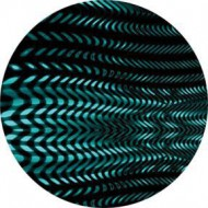 ROSCO GOBO VIDRIO 84424, CYAN TREAD, Color
