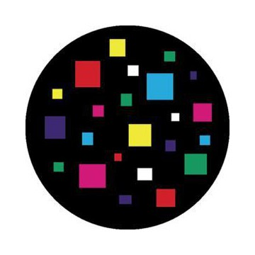 ROSCO GOBO VIDRIO 86603, SQUARES, Color