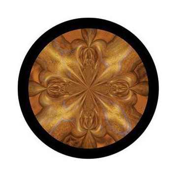 ROSCO GOBO VIDRIO 86739, QUICKSILVER GOLD, Color
