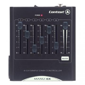 CONTEST MESA DE ILUMINACION 6 CANALES DMX MANU-6X