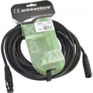 Audiophony CDMX-10 Cable DMX XLR macho 3 pin y hembra 3 pin de 10 m conectores negros