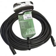 Audiophony Cable DMX CDMX-20 XLR macho 3 pin y hembra 3 pin de 20 m conectores negros