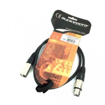 AUDIOPHONY CM/XFXM-0,6-CABLE DE MICRO XLR M/XLR H0,60 m
