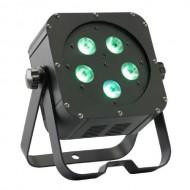 CONTEST irLEDFLAT-5x5QCb, Proyector compacto de 5LED 4en1 5W (RGB+W