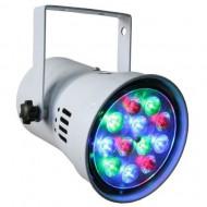 FOCO PAR 36 RGB 12 LED 1W FACTORLED BLANCO CON VISERA