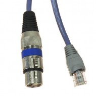 CABLE XLR-ETHERCON HEMBRA 1 m TIRAS LED