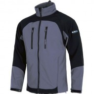 CHAQUETA WORKSHELL COLOR GRIS + NEGRO