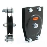 DOUGHTY POLEA ESTANDAR 1 VIA Para cable de acero.Diametro 100mm